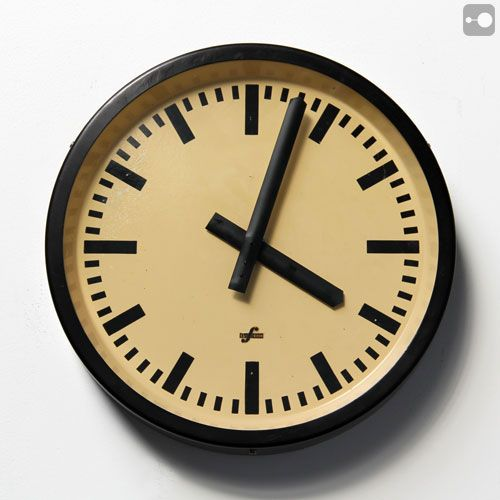 Vintage Industrial Factory Clock By Elfema. Communist East