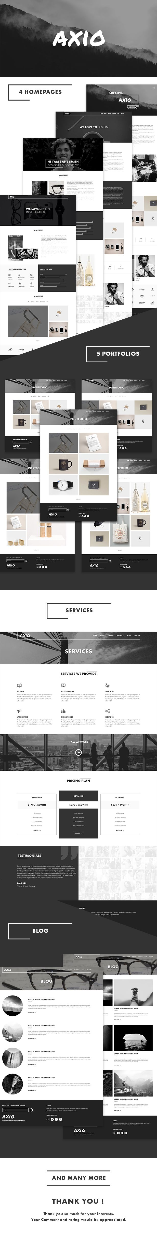 AXIO Creative Agency and Portfolio Template • Download theme