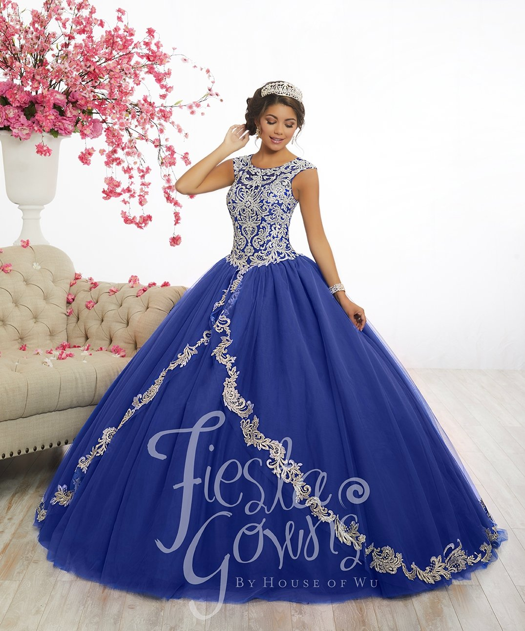 773039f851 Lace Appliqued Quinceanera Dress by Fiesta Gowns 56336 in 2019 ...