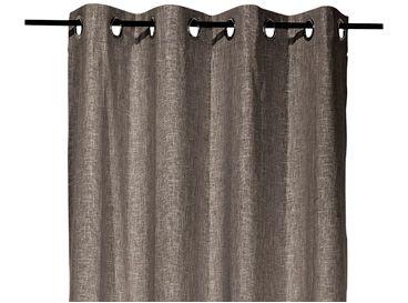 Gordijn Anna bruin, linnen/viscose gordijnen xenos, grijs/wit/zwart ...