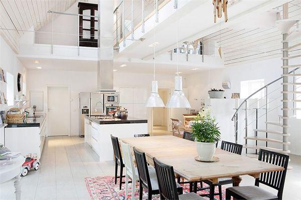 pretty white loft | Vardagsrum House