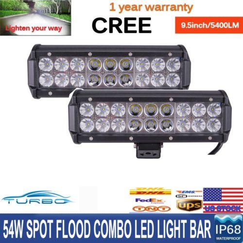 2x 10Inch 54W LED Light Bar Spot Flood Light Work Offroad SUV 4WD Driving Lamp 9 https://t.co/LijYs7nqVE https://t.co/pgzlWRZrZ9