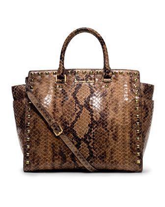 0968b8b10985ff MICHAEL Michael Kors Large Selma Snake-Print Tote. | IN THE BAG ...