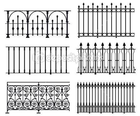 Railings and fences \u2014 Stock Illustration #3902529 grills Pinterest
