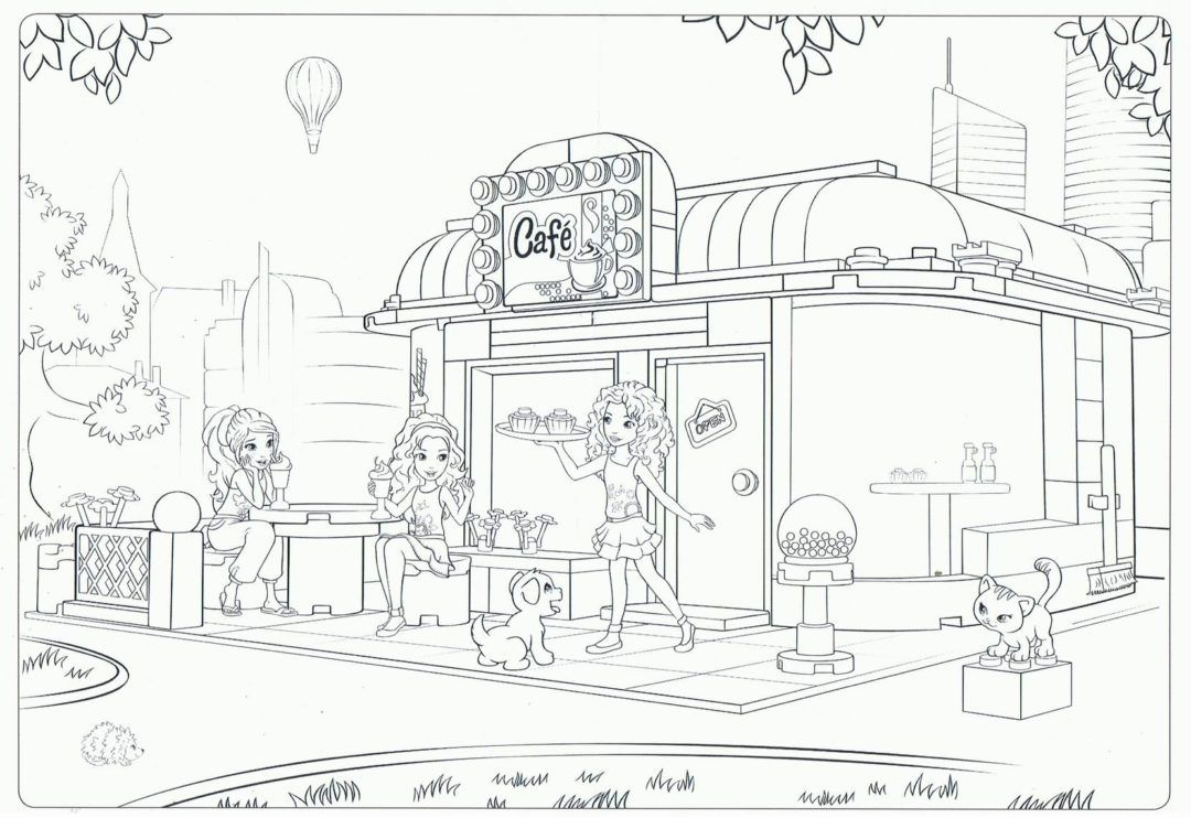 Coloring Rocks Lego Coloring Pages Lego Friends Friends Cafe