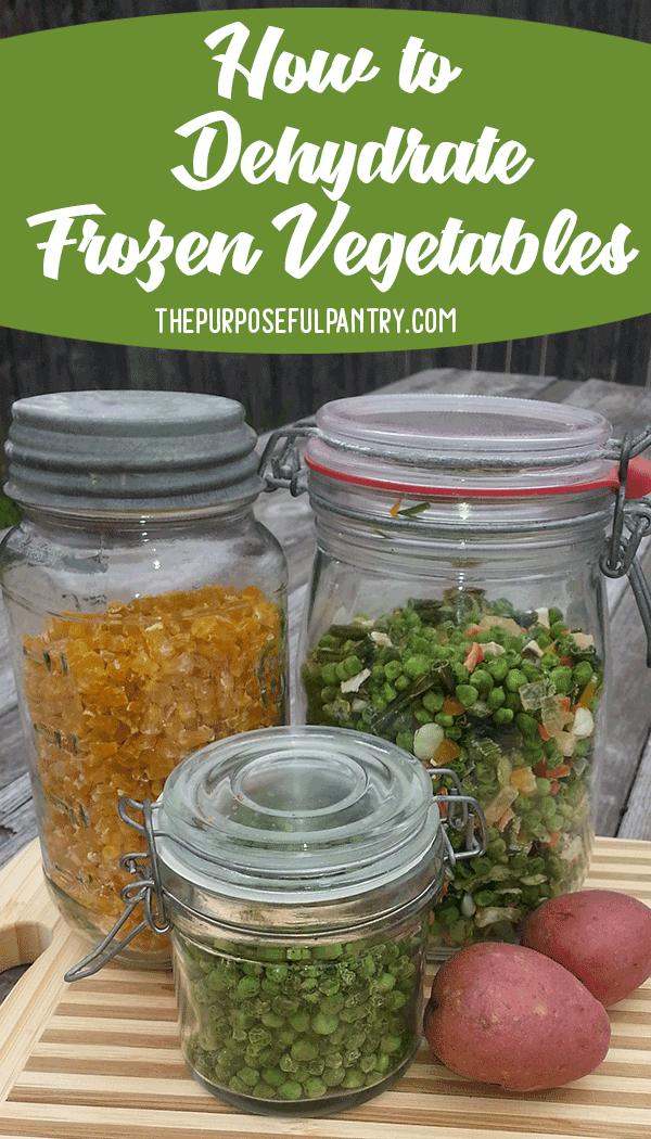 Dehydrate Frozen Vegetables Dehydrated Vegetables Dehydrator Recipes Frozen Vegetables