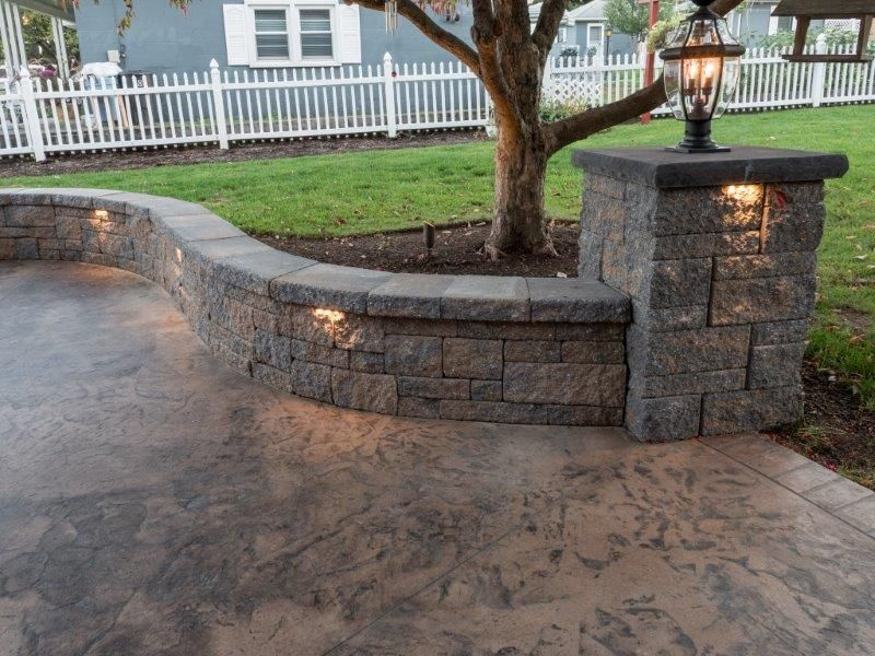 Paver sitting wall with under cap lighting & Paver sitting wall with under cap lighting | Walls | Pinterest azcodes.com
