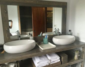 Rustic His and Hers Bathroom Vanity, Bathroom Vanity, Vanity, Rustic, Custom Made