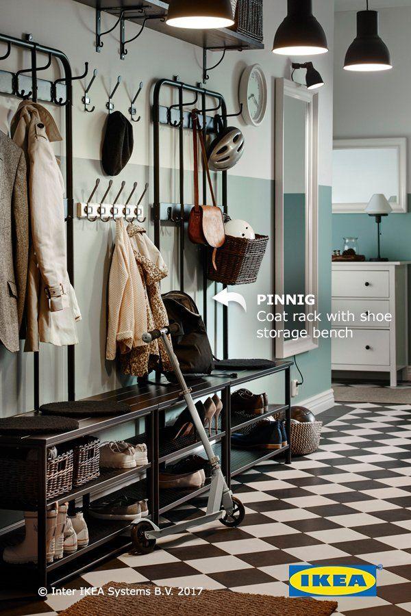 Pinnig Coat Rack With Shoe Storage Bench Black Ikea Shoe Storage Coat And Shoe Storage Bench With Shoe Storage