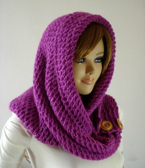 Knitting Pattern Hood Scarf Loulou Kiss Hooded Scarf Hood