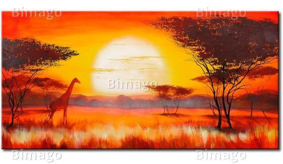 Paysage africain peinture pinterest - Dessin paysage africain ...