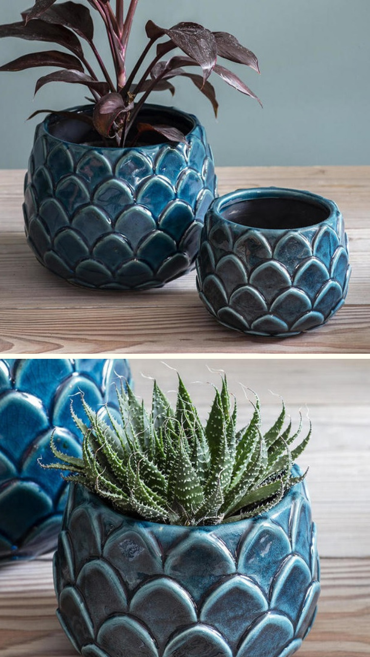 Buy Artichoke Ceramic Plant Pots — The Worm that Turned - revitalising your outdoor space