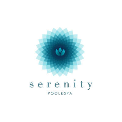 Serenity pool spa logo design gallery inspiration for Pool design logo