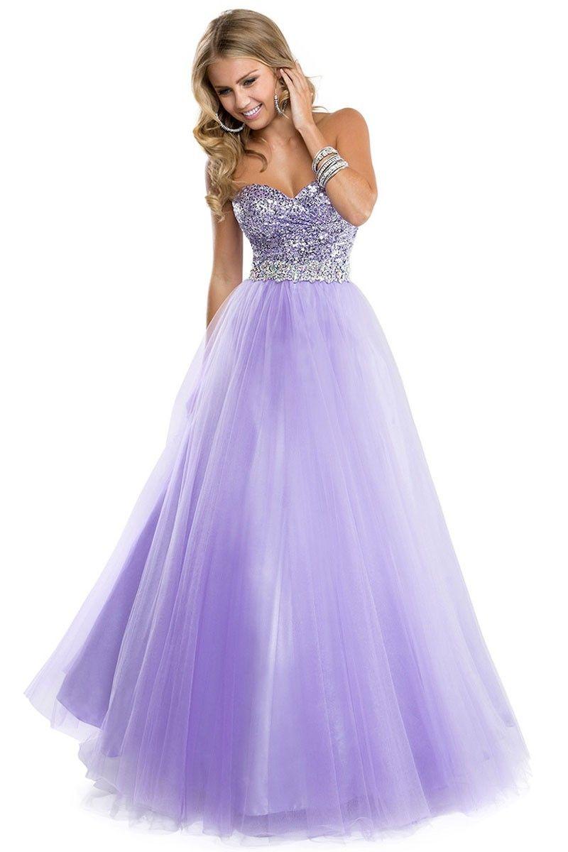 Lavender Floor-Length Sweetheart Organza Ball Gown Dress DWD2841 ...