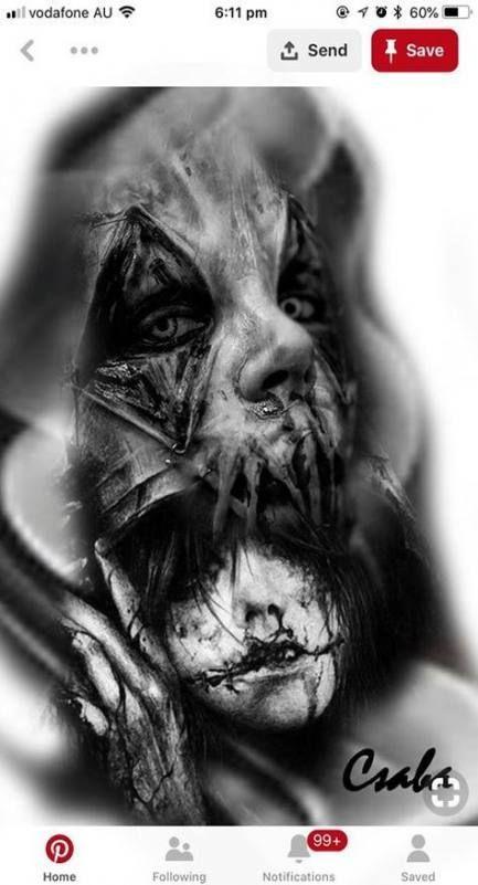 Photo of 57+ idées de croquis de tatouage d'art sombre