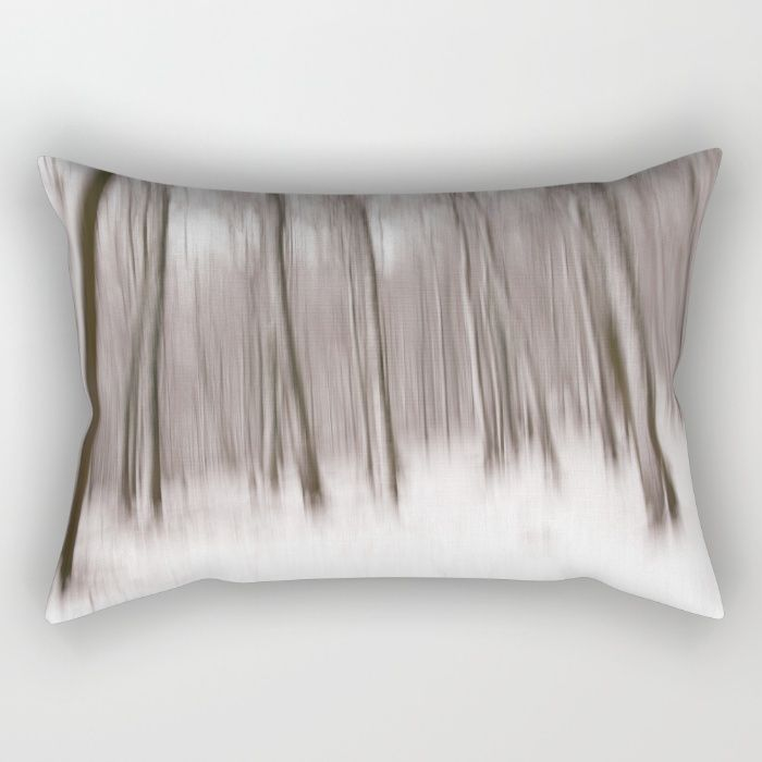 First Snow in the forest Rectangular Pillow