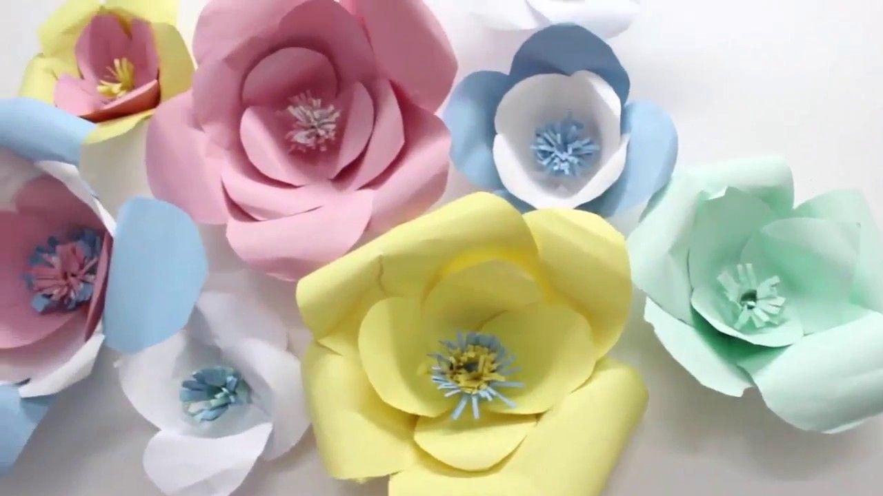 كيف تصنع ورد مجسم بالورق How To Make A Rose Paper Floral Floral Rings Rose
