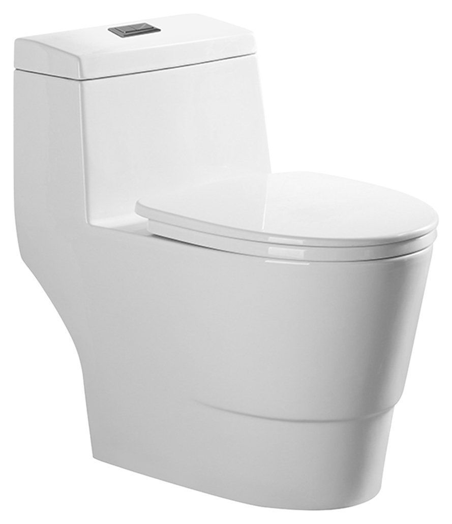 cheaper low price sale new release Woodbridgebath T-0011 Dual Flush Elongated One Piece Toilet ...