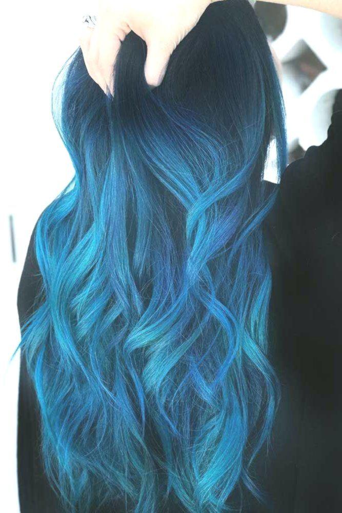 Hair Color 2017 2018 Indigo Blue Black Bluehair Ombre Brunette