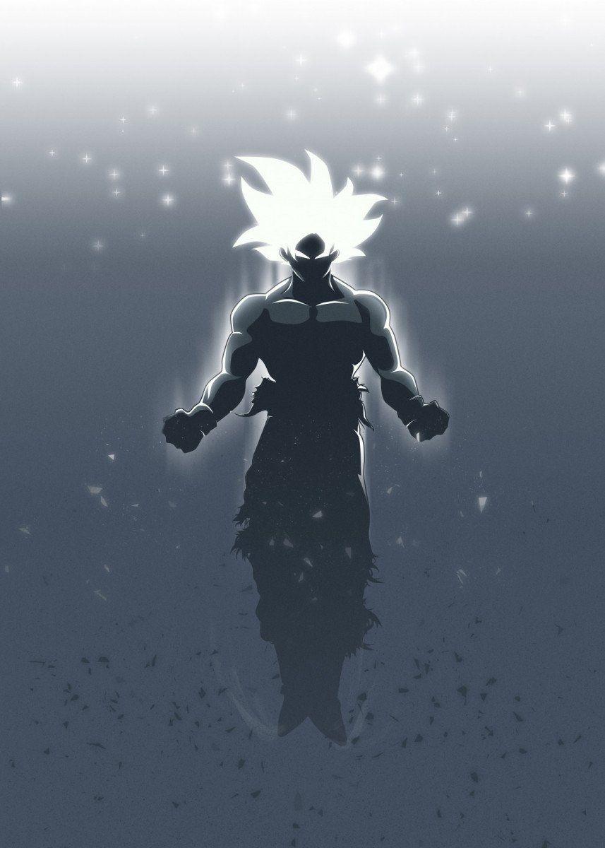 Goku Ultra Instinct Metal Poster Print Fadilr R Displate Anime Dragon Ball Super Dragon Ball Super Artwork Dragon Ball Super Manga