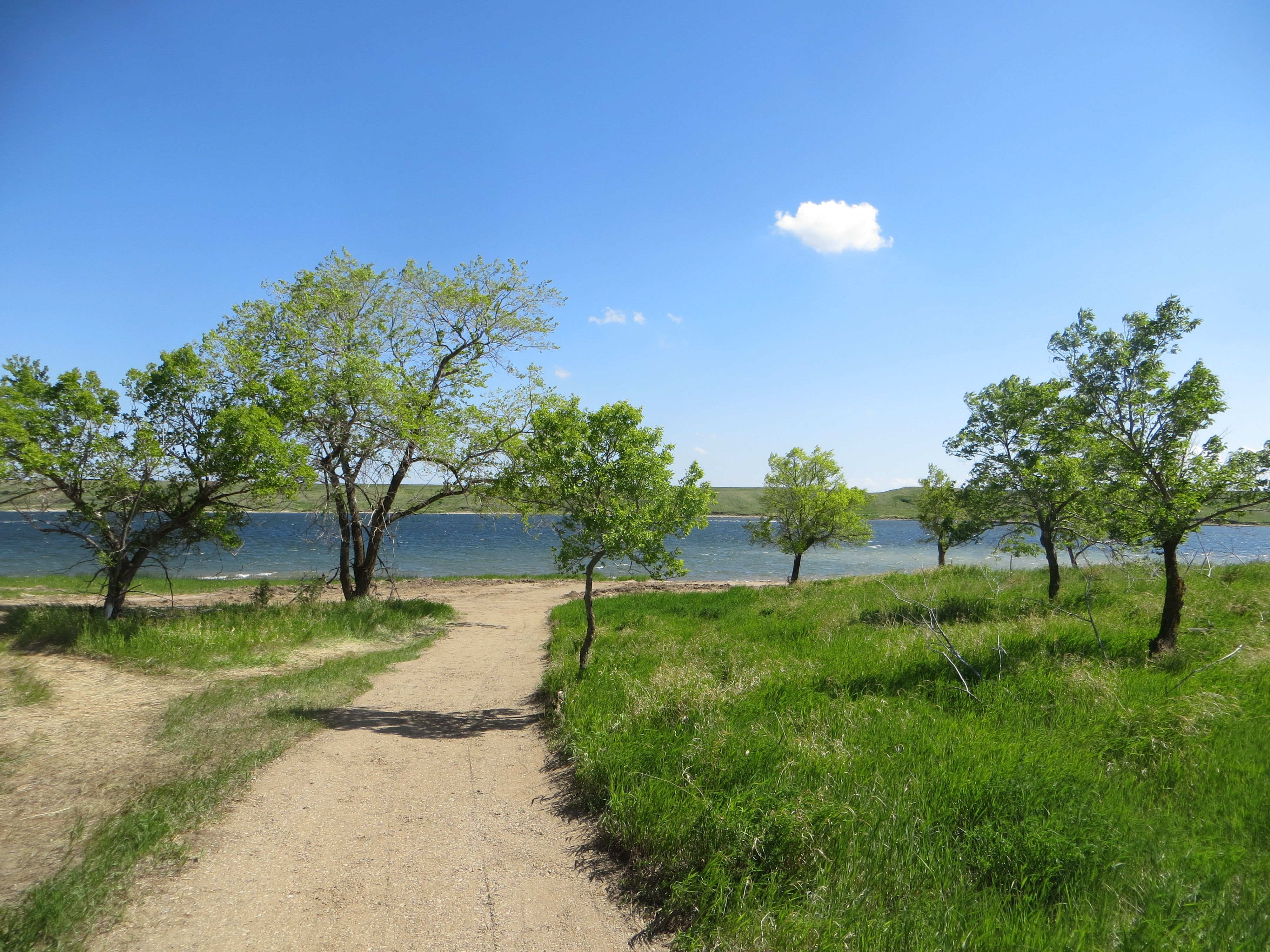 Walking Path At Sandy Shores Resort On Lake Diefenbaker Sk The
