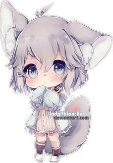 Anime Girl Art Chibi And Like Omg Get Some Yourself Some Pawtastic