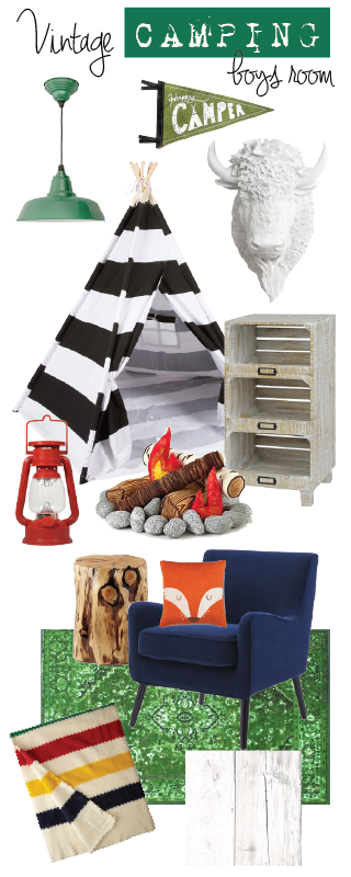 Design Ideas Vintage Camping Bedroom for Boys is part of Big bedroom For Boys - A few years ago I sent my two boys to a sleepaway summer camp  I was a girl scout myself and LOVED spending a week away at summer camp  Camp helps build confidence and character  I wanted my kids to experience that same joy of spending a week outdoors  We waited until our youngest was …