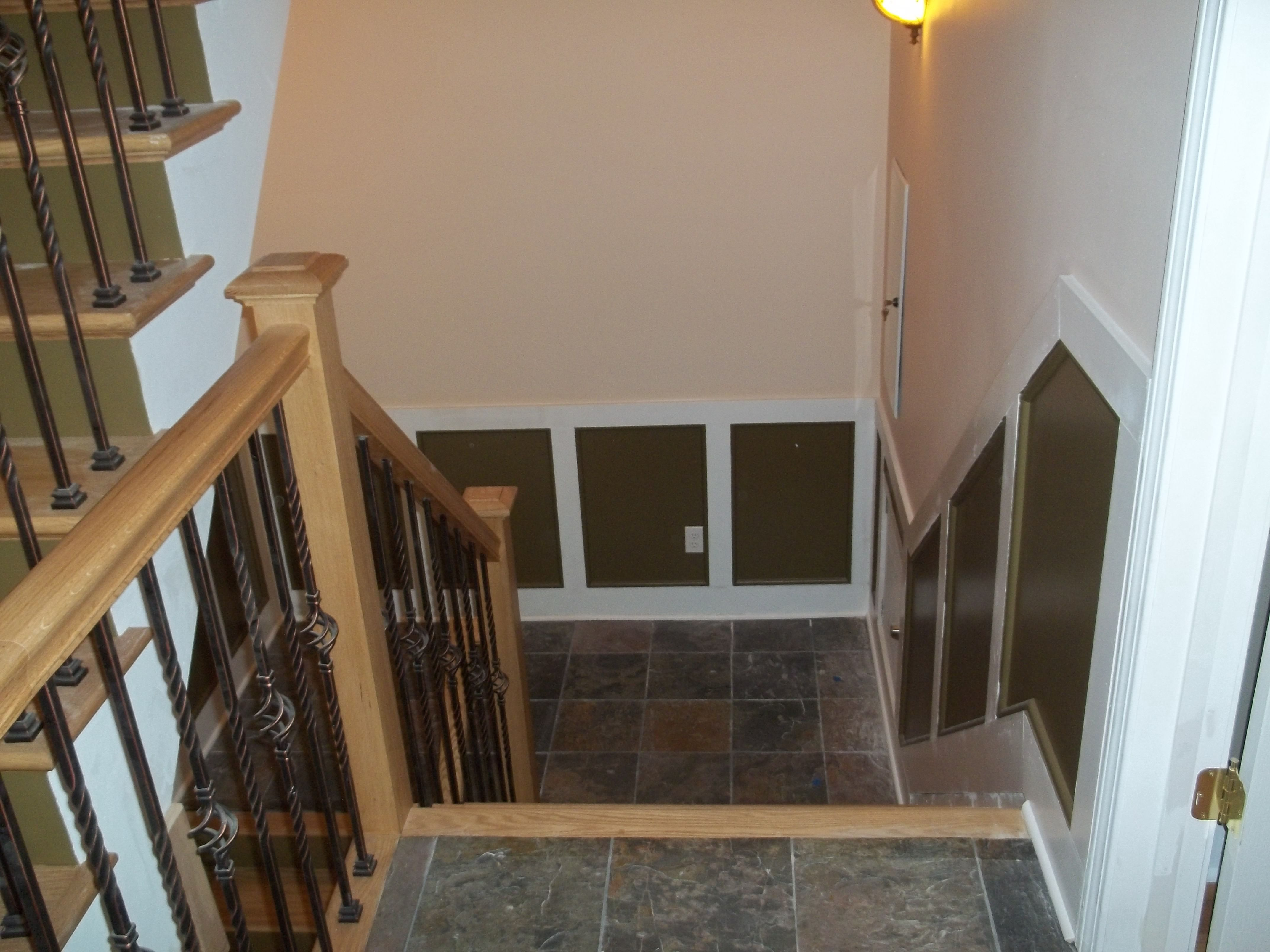 Catskill NY Custom Stair Painting. The Stair Stringers, Risers And Wall  Trim Have Been