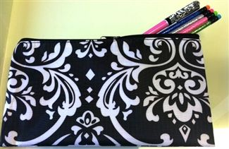 Damask Pencil Bag-LOVE this!