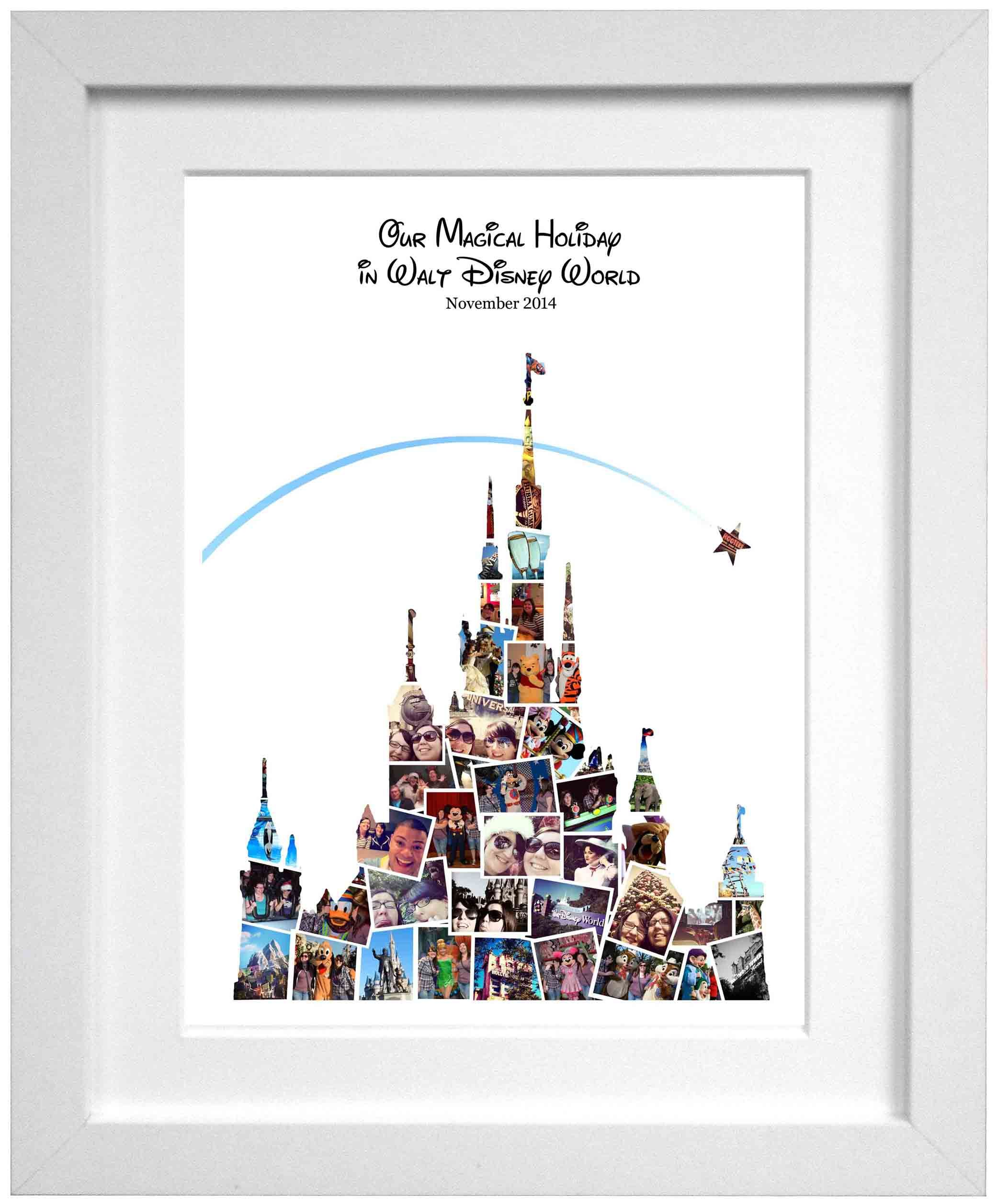 Personalised Photo Collage Perfect Gift For Christmas Valentine S Day Birthday Anniversary Wedding Engagement Disney Decor Photo Collage Disney Scrapbook