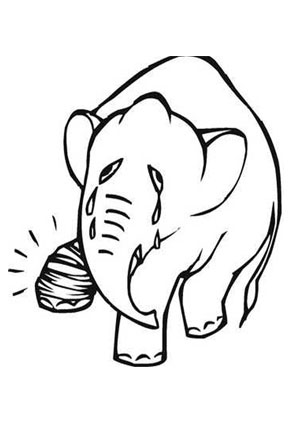 ausmalbild weinender elefant zum ausmalen. #ausmalbilder