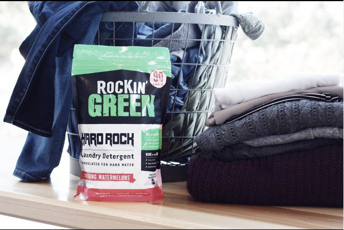 Rockin Green Hard Rock Smashing Watermelons Hard Water Biodegradable Products Laundry Detergent