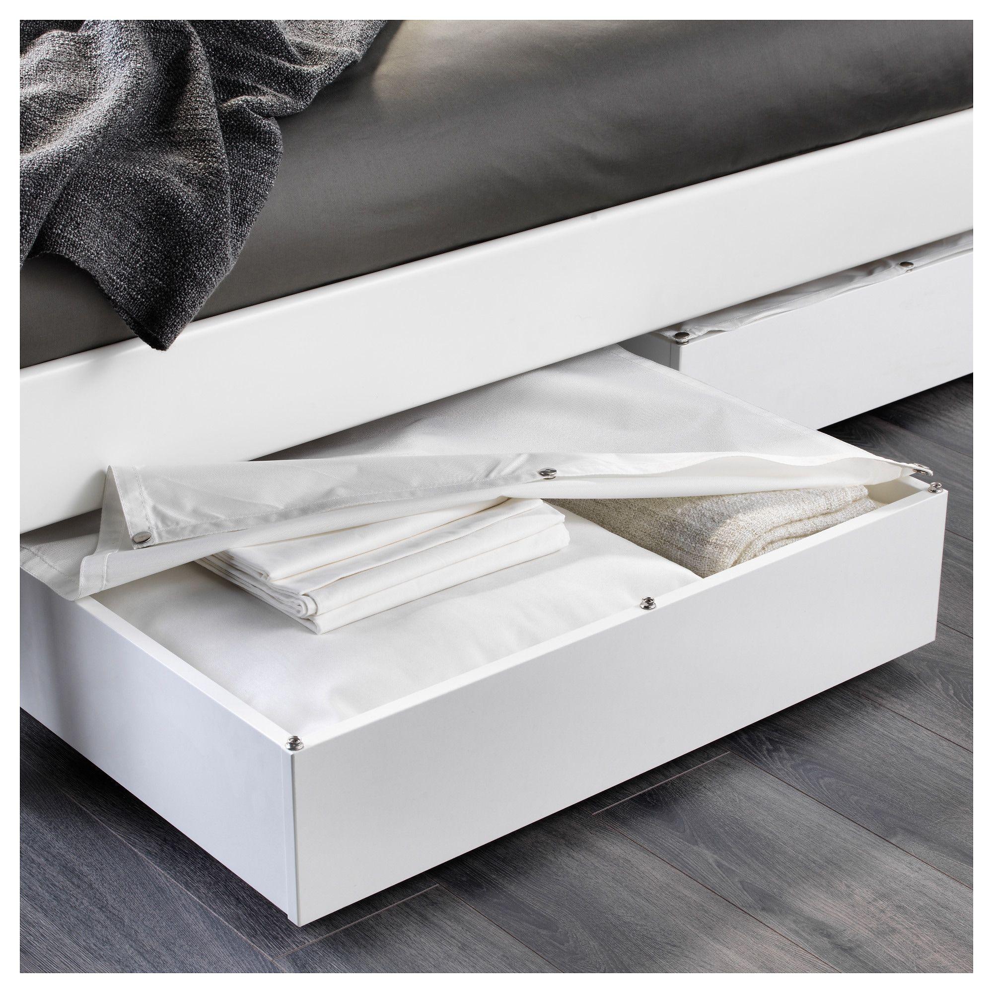 Vardo Rangement Pour Lit Blanc 65x70 Cm Ikea Bed Storage Under Bed Storage Under Bed Storage Boxes