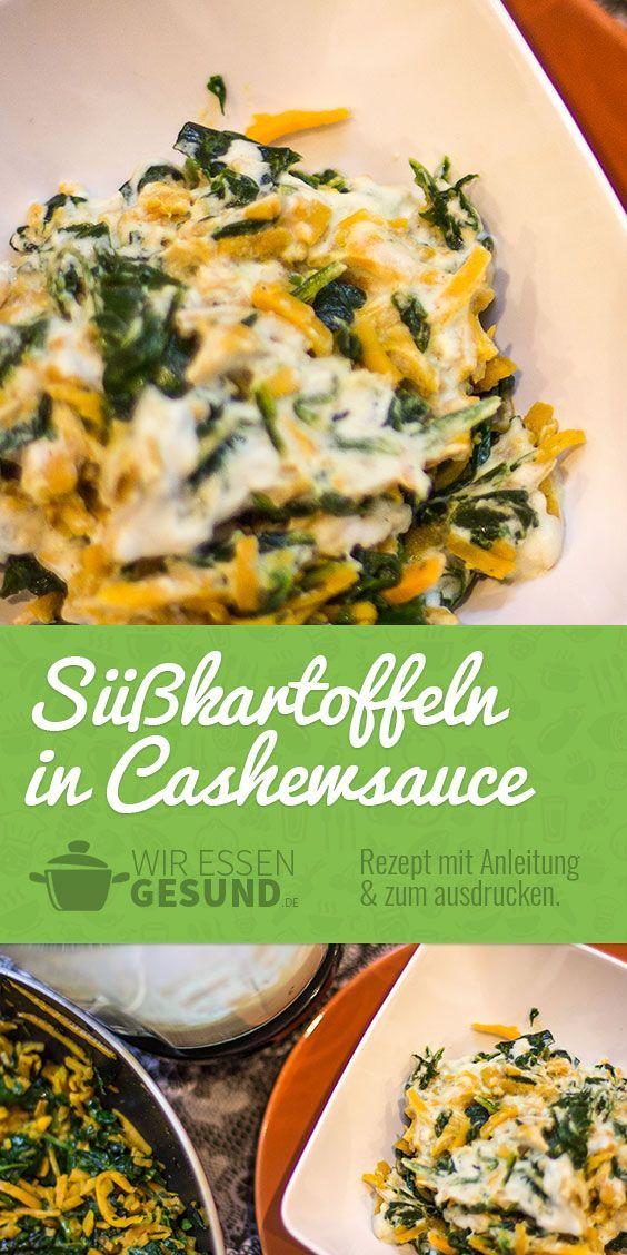 Photo of Süßkartoffeln mit Cashewsauce – WirEssenGesund