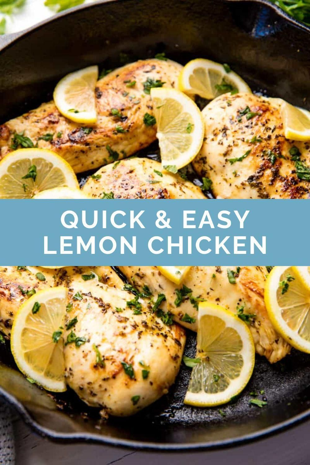 Quick and Easy Lemon Chicken Recipe - Quick & Easy in 2020 ...