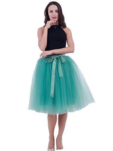 7ea73279826 SCFL falda de tutú de las mujeres Midi Tulle faldas 7 capas de falda de  falda