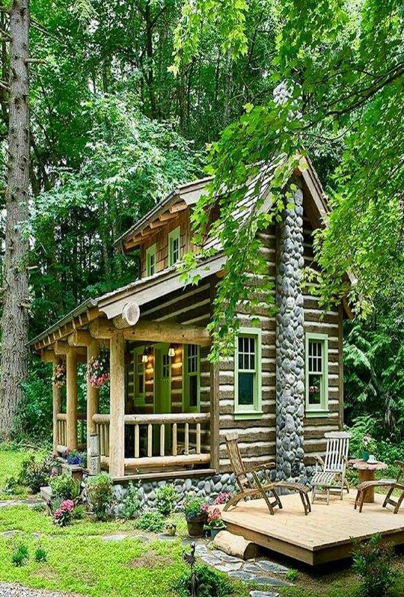Pin de Randy Murrell en Country living | Pinterest | Cabañas, Casas ...