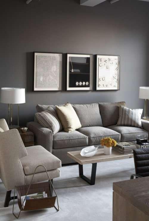Come arredare il soggiorno con il grigio   Salotto grigio ...