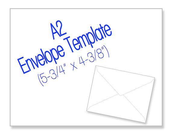 A2 Envelope Template Envelope Template Printable Envelope Template A2 Envelopes
