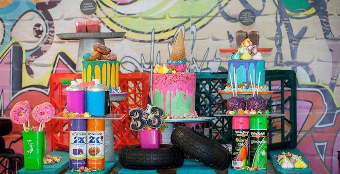 Graffiti Themed Birthday Party Party On Man Birthday