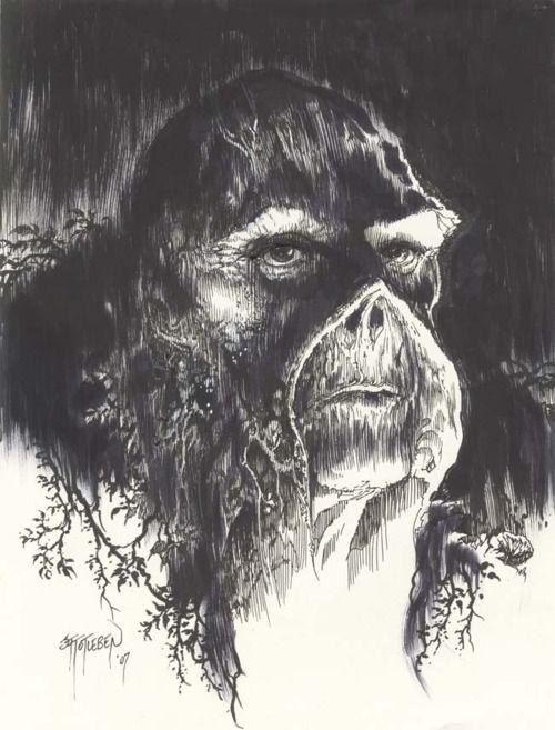 Swamp Thing by John Totleben | that's all | Comics, DC ...