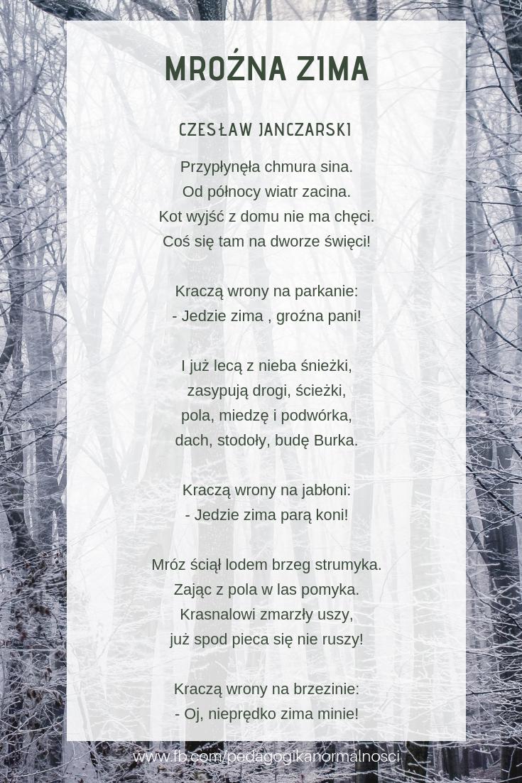 Wiersz Zimowy Do Wykorzystania Podczas Herbatki Poetyckiej