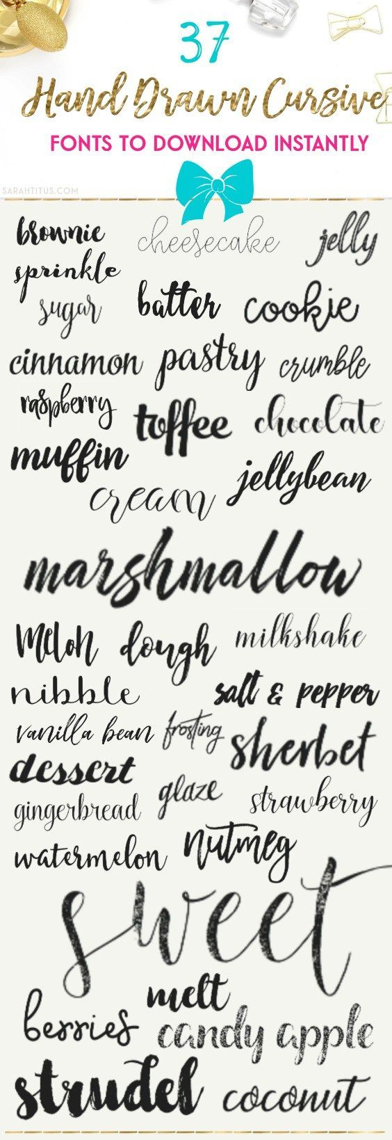 37 Hand Drawn Cursive Fonts to Download Instantly | Cricut