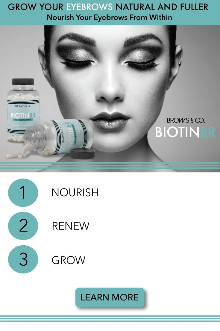 Biotin BR is the first Biotin supplement dedicated for those who suffer from eyebrow hair loss or want to regrow eyebrows full and natural. Biotin BR contains 10,000 mcg of pure Biotin. Nourish your e