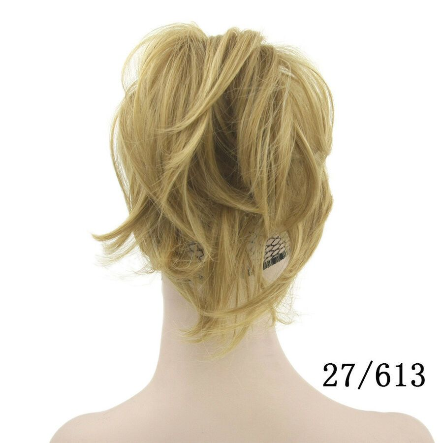 13 synthetic claw clip on ponytail hair extensions 35cm