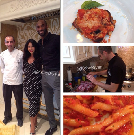 Kobe Bryant threw a lavish but very tasty 31st birthday