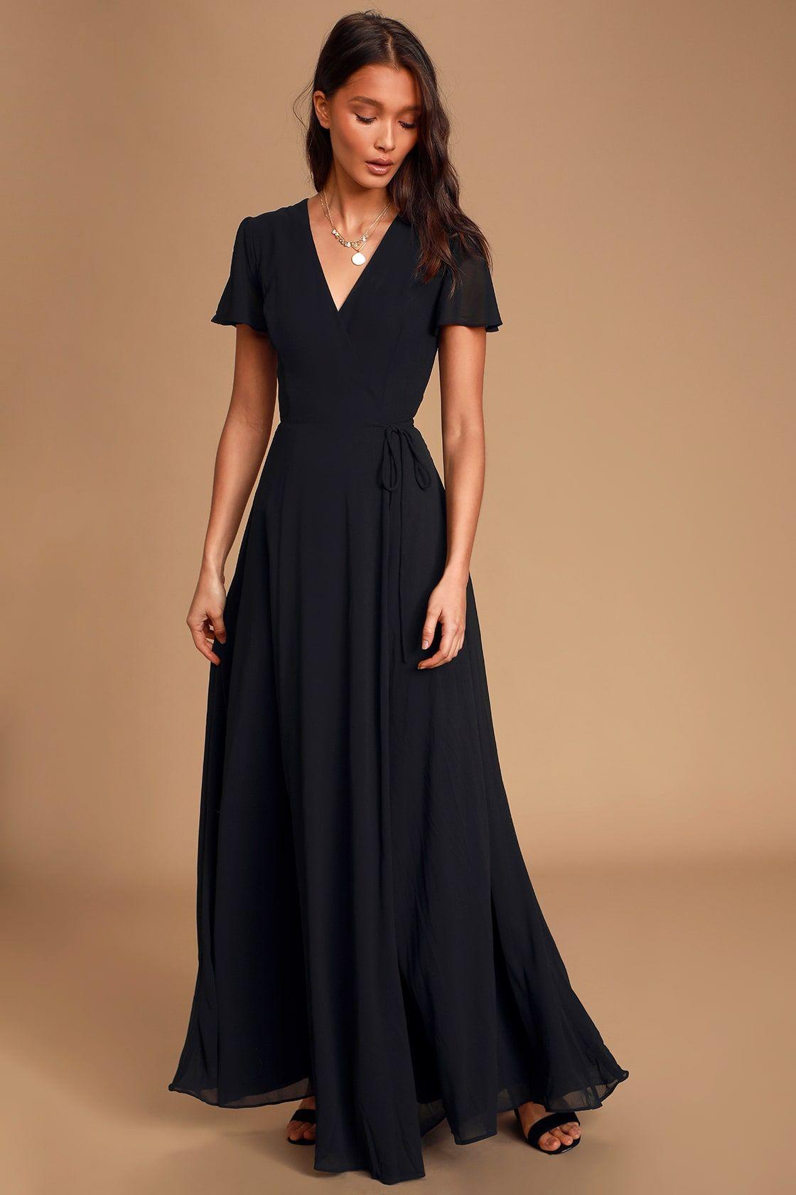 You Re My Everything Black Short Sleeve Wrap Maxi Dress Maxi Dress Black Maxi Dress Formal Maxi Wrap Dress [ 1680 x 1120 Pixel ]