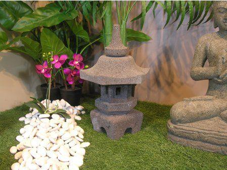 Lampe Japonaise Toro Jardin Zen En Pierre De Lave 50cm Japonaise
