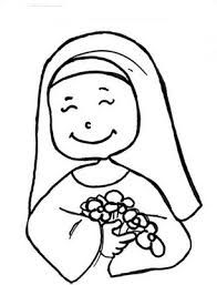 Immaculate Heart Of Mary Catholic Coloring Page Desenho De