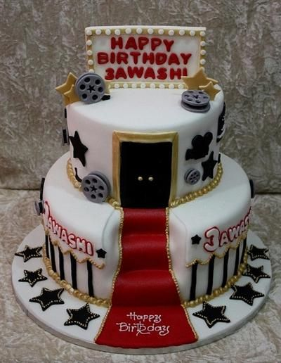 Fabulous Movie Star Hollywood Cake With Images Hollywood Cake Funny Birthday Cards Online Alyptdamsfinfo